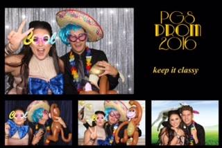 Prom graduation ball photo booth hire