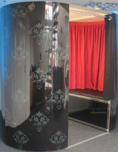technical information - black and grey vintage photo booth