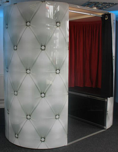 White Chesterfield photo booth
